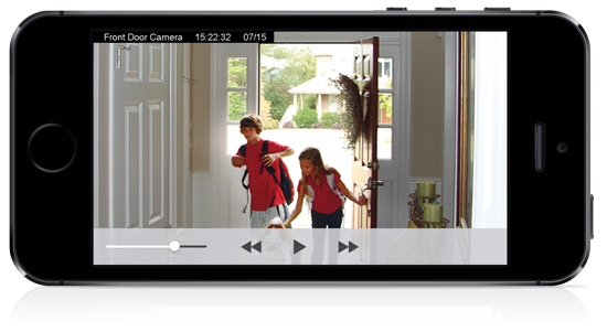 Video camera feed on phone